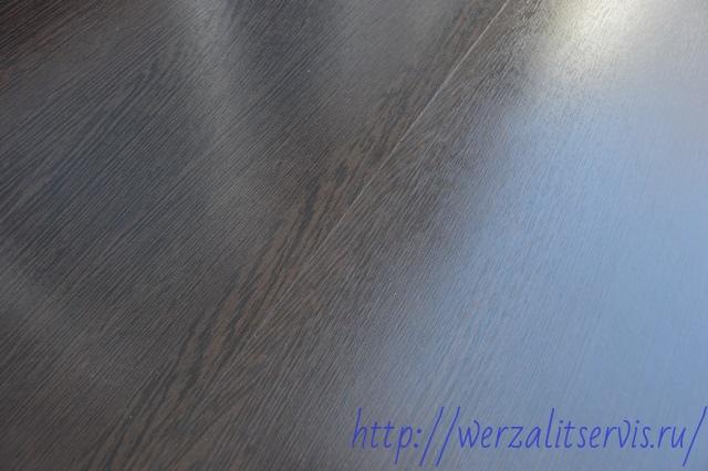 Подоконник Werzalit цвет венге место склейки