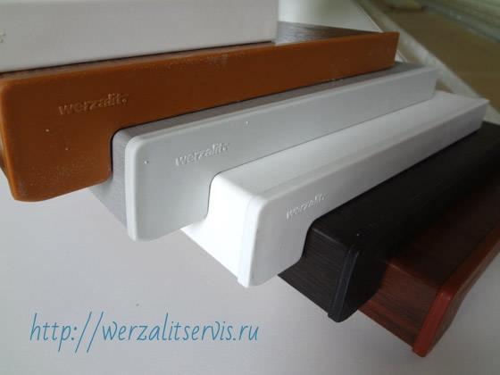 Подоконники Верзалит с пластиковой торцевой заглушкой