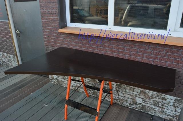 Подоконник стол из материала Верзалит, глубина более 60см, склееный