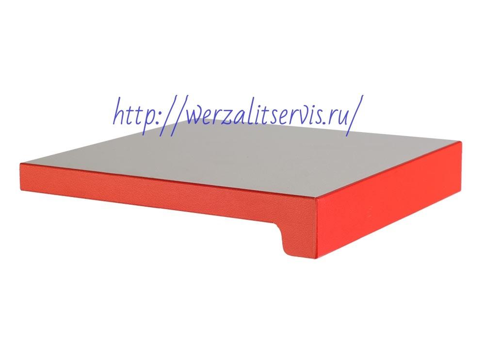 Подоконник Верзалит серия Экспона  цвет поляно-белый кант красный
