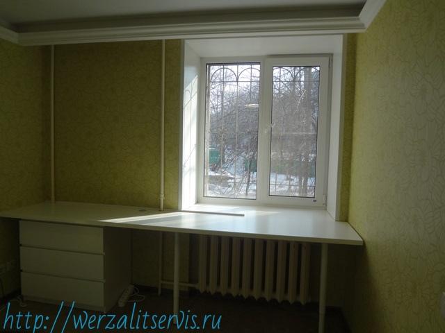 Подоконник стол Werzalit длинна 2780мм глубина 900мм цвет белый №001