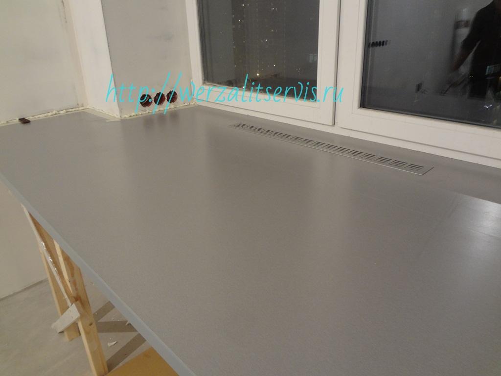 Подоконник-стол Werzalit цвет 021 металлик длинна 2990мм