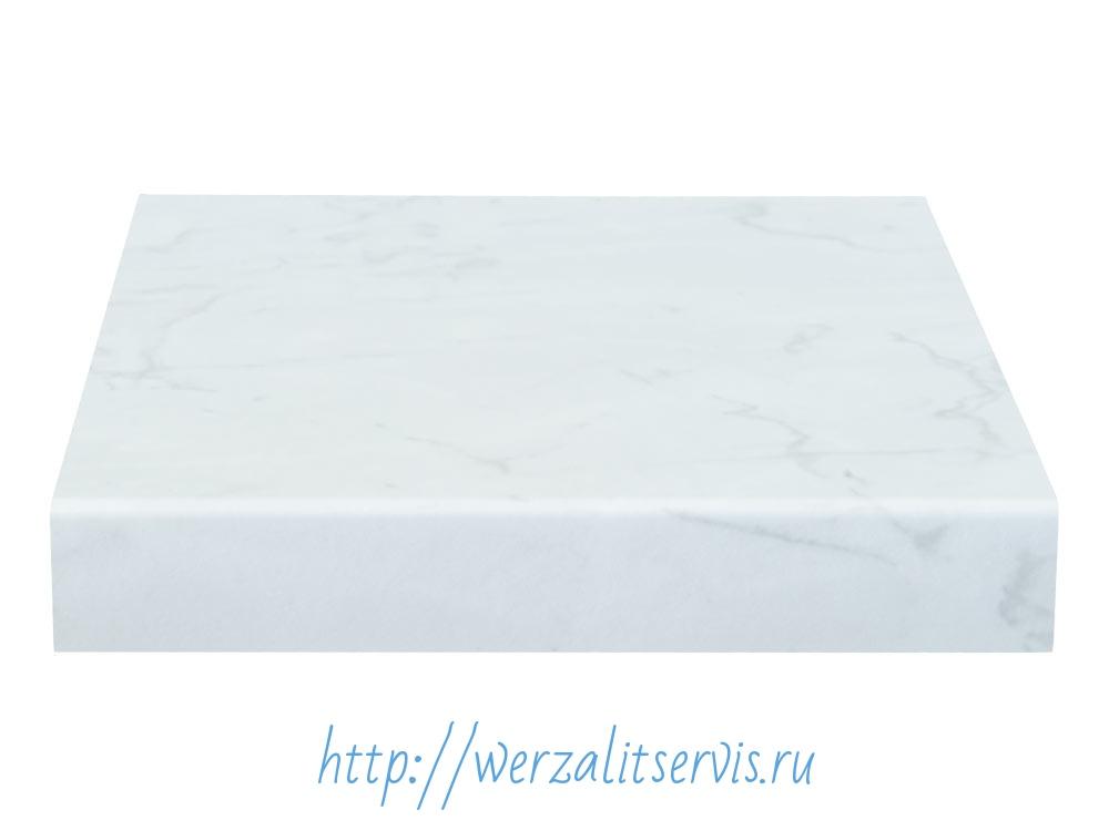 подоконник Werzalit цвет белый мрамор №070