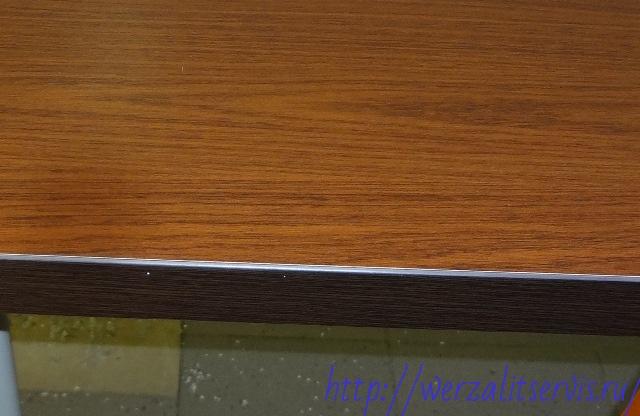 Подоконник Werzalit цвет меранти кант венге - темно коричневый
