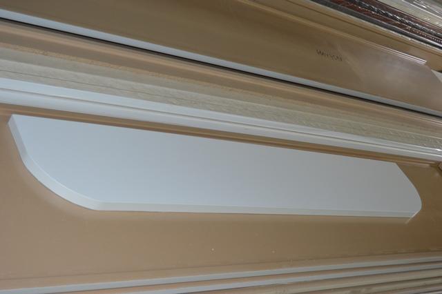 Подоконник радиусный из материала Верзалит, изготовление  Верзалитсервис